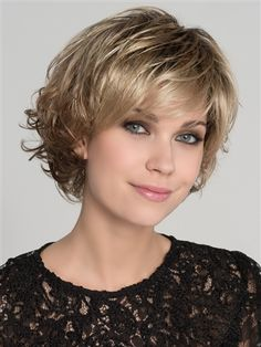 Ellen Wille Wigs – Flair Mono Wig Features: Monofilament Top, Extended Lace Front, Open Wefted Sides/Back Flair Mono is a very feminine look. Beautiful flattering layers and harmonious harmonious waves describe this dream. Short Hairstyles For Thick Hair, Short Hair With Layers, Short Curly Hair, Curly Hair Styles, Soft Layers, Short Hair Cuts For Women Over 50, Layered Hairstyle, Trending Hairstyles, Diy Hairstyles