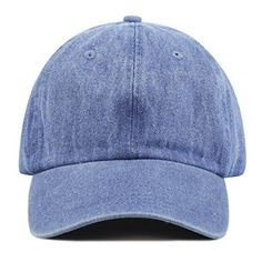 95cdc0a5bc8 The Hat Depot 300N Washed Low Profile Cotton and Denim Baseball Cap Cool  Baseball Caps