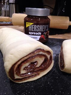 Food Bully's creation of Hershey's Spreads Chocolate Rolls...gotta try these one day! Check out more yummy recipe on food-bully.com or here on Pinterest  @Zai Angelo