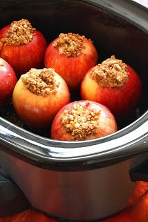 GRANDMA'S SLOW COOKER RECIPES: SLOW COOKER BAKED APPLES