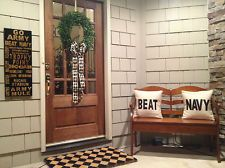 2 BEAT NAVY Pillow Pillows Go Army Football NEW upholsteryfabric USMA West Point