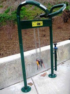 Asheville's New Bike Repair Station