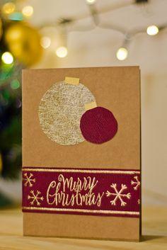 Christmas gift card, Merry Christmas, boże narodzenie, kartka, DIY