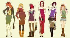 Fashion girls 2 by AmeliaVidal.deviantart.com on @DeviantArt