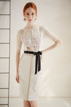 Daisy Lace Sheath from Beguile by Byron Lars $258.00