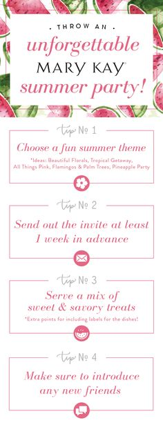 Easy tips to throw an unforgettable Mary Kay summer party! Our favorite theme? All Things Pink!