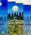 Zerihun Yetmgeta-New Complex 1993. oil on canvas