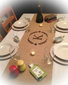 Burlap Table Runner  12 14 & 15 wide with by CreativePlaces, $14.00