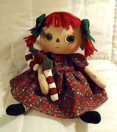 All is Bright: Christmas Dolls  Just to get an idea. Dolls from purchased pattern.