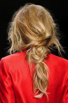 messy braid/ponytail #hair #updo