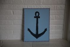 anchor Anchors, Kids Bedroom, Boats, Unique Jewelry, Handmade Gifts, Frame, Vintage, Etsy, Decor