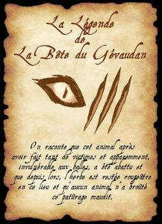 affiche gevaudan Harry Potter Classes, Harry Potter Theme, Harry Potter Diy, Wiccan Spells, Witchcraft, Teen Wolf, Humour Disney, Halloween Apothecary Labels, Harry Potter Invitations