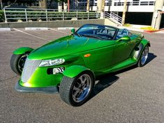 1999 Plymouth Prowler, Custom Candy Lime Green, 3.5L, 215cu Click to find out more - http://newmusclecars.org/1999-plymouth-prowler-custom-candy-lime-green-3-5l-215cu/ COMMENT.