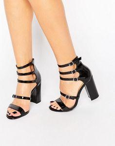 Sandales à talon à brides tressées Noir What ForWhat For 0dOX2OU