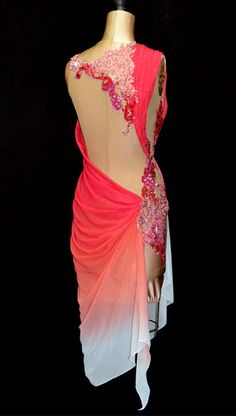 Back of that draped coral dress. Love it even more with the open back