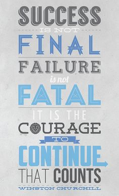 Failure and Success Typography Quote by QRPro