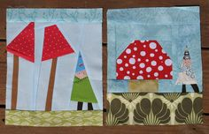 My gnome and Mushroom Blocks for Ashley - Bee Modern Too