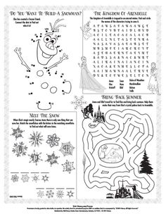 Disney Activity Pages - Bing Images