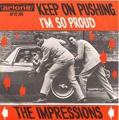 "The Impressions - Keep On Pushing/I'm So Proud // 7"", artone, AP22.186 //"