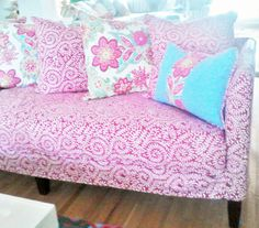 Slipcover with High Contemporary Skirt