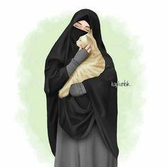 Cute Muslim Couples, Muslim Girls, Muslim Women, Modern Hijab Fashion, Hijab Fashion Inspiration, Hijab Dp, Islamic Cartoon, Modele Hijab, Anime Muslim