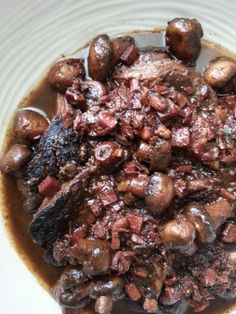 """I wanted to try and take a very, elegant dish and convert it into a recipe that everyone can enjoy - hence the pot roast. You will want to ask the person at the deli to cut you a 1/2"""" thick slice o..."""