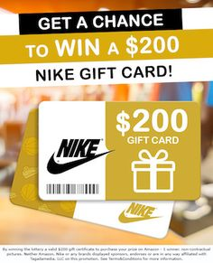 Free Nike Gift Card Giveaway. Win Nike gift card without dollar. Only submit your mail, zip code and give few questions' answer.$500 #free nike #gift card #codes Nike Gift Card, Nike Gifts, Gift Card Basket, Netflix Gift Card, Target Gifts, Get Gift Cards, Online Sweepstakes, Gift Card Giveaway, Sports Gifts