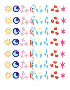 How to make your own My Little Pony Cutie Mark temporary Tattoos - illistyle.com