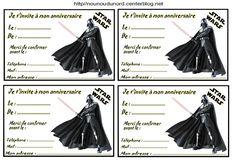 invitations - Carte Anniversaire Star Wars Imprimer