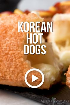 Mar 2020 - Korean hot dogs, also known as Korean corn dogs, are a popular Korean street food that has recently come to the US. Learn how to make these fun, cheesy hot dogs at home. Dog Recipes, Cooking Recipes, Korean Food Recipes, Corndog Recipe, Korean Street Food, South Korean Food, Food Cravings, Diy Food, Food Food