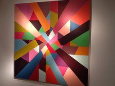 Nancy Margolis Gallery Presents Razzmatazz By Jackie Meier Geometric Painting, Geometric Art, Abstract Art, Painting Inspiration, Art Inspo, Acrylic Painting Flowers, Teaching Art, Amazing Art, Glass Art
