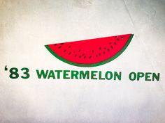 1983 Watermelon Open Iron On Heat Transfer by VintageIronOn on Etsy