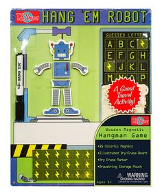 Another great find on #zulily! Robot Hangman Magnetic Game #zulilyfinds