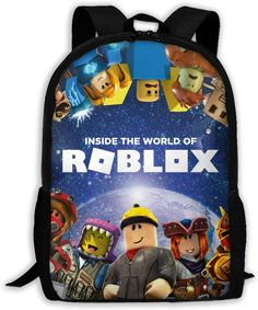 Roblox School Backpack - Lunch Bag - Pencil Case for back to school #robloxschoolbackpack #roblox #robloxpencilcase #robloxlunchbag #robloxbacktoschool Back To School Backpacks, Top Backpacks, Bags For Teens, School Bags For Kids, Toddler Backpack, Backpack Pattern, Tote Organization, Go Bags, Rucksack Backpack