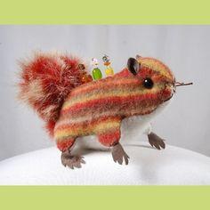 Squirrel pincushion!