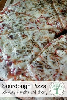 Deliciously crunchy and chewy at the same time, this sourdough pizza crust will keep you coming back for more! The Homesteading Hippy Pizza Recipes, Real Food Recipes, Jewish Recipes, Oven Recipes, Bread Recipes, Sourdough Recipes, Sourdough Bread, Sourdough Pizza Dough Recipe, Pizza Appetizers