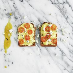 Scrambled eggs should be moist, moist, moist! Add butter and add cream. Serve on toasts with cherry tomatoes, blue cheese and Pineapple Habanero #HotSauce. #HetheringtonToastParty #JonnyHetheringtonEssentials #habanerosauce #habanero #pineapple #spicy #hot #EssentialHotSauce #EssentialRecipe #Essential #Toast #eggs #bluecheese #breakfast #brunch #GetSpicy #ArtOfDining #Vancouver #cooking #food #foodporn #picoftheday #heat #foodstagram #foodphotography #foodstyling #instafood #SpicyPa