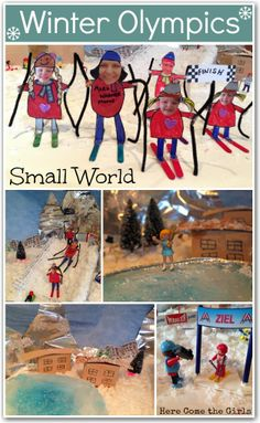 Participate in the Winter Olympics from the comfort and safety of your own home. This small world is great for adventurous kids and keeps th...
