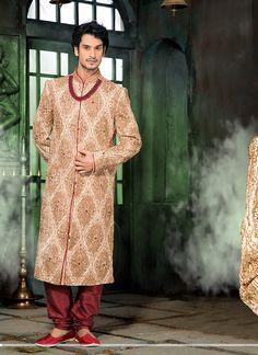 I like this sherwani So much.....  Traditional & Stylish  Buy Now @ http://www.suratwholesaleshop.com/wholesale-sherwanis-collection-with-pure-silk-2725?view=catalog