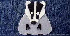 Felt or applique badger pattern