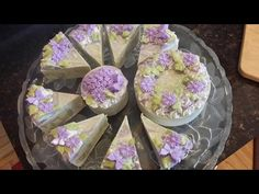 Cold Process Soap Making Lilac Soap Cake Collection - YouTube