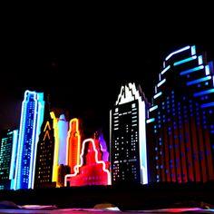 City Skyline Neon Art #ionart  #neon