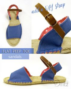 429e94261845 Dritz Espadrilles  New Sewing Patterns for Peep Toe Flats   Wedges Syning  Tøj