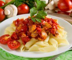 Villámgyors sajtos-tejfölös pogácsa Recept képpel - Mindmegette.hu - Receptek Penne, Superfood, Pasta Salad, Potato Salad, Food And Drink, Potatoes, Lunch, Meat, Chicken