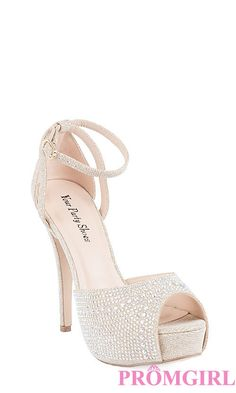 Your Party Shoes Taylor Style 810 - Silver Style 811 - Nude Stunning Crystal Embellished Peep Toe High Heel with Ankle Straps! Description:Heel: 3 1 Available High Heels For Kids, High Heels For Prom, Nude High Heels, Prom Heels, Wedding Heels, Bridal Heels, Stilettos, Quinceanera Shoes, Quinceanera Ideas