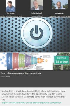 Startup Icon is a web based competition where entrepreneurs from anywhere in the world will have the opportunity to pitch to elite Silicon Valley investors via remote connection without leaving their city.    http://survcast.com/New-online-entrepreneurship-competition