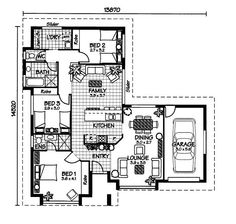 The Heron « Australian House Plans Model House Plan, Dream House Plans, House Floor Plans, Australian House Plans, Australian Homes, Architectural Floor Plans, Sims 4 Houses, House Drawing, Autocad