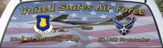 USAF 22nd Air Refueling Wing Truck Rear Window Graphic Mural.