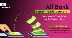 Paymoney Recharge Provides All Bank Online Money Transfer Software, Easy Money Transfer to any Bank & Any Time. Online Mobile, Software, Money, Easy, Silver
