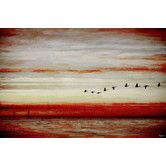 Found it at AllModern - Flying South 2-Art Print on Premium Wrapped Canvas